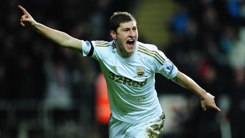 Swansea's Ben Davies opened the scoring