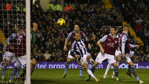 WBA's Peter Odemwingie scored from a corner to deny Villa all three points on Saturday