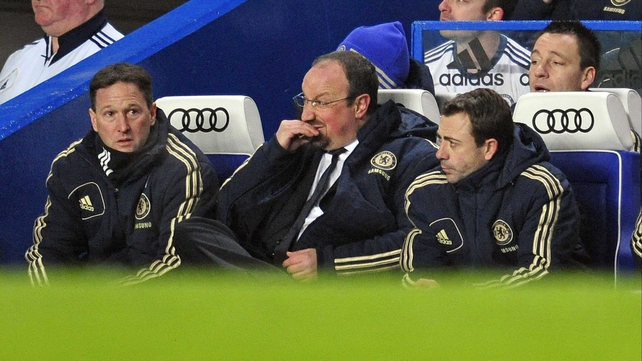 Rafael Benitez has hit out at Chelsea fans