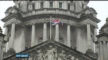 Union flag flies over Belfast City Hall
