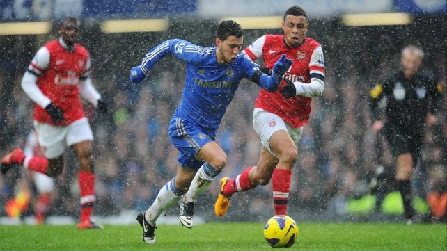 Eden Hazard in action during Chelsea's 2-1 win over Arsenal