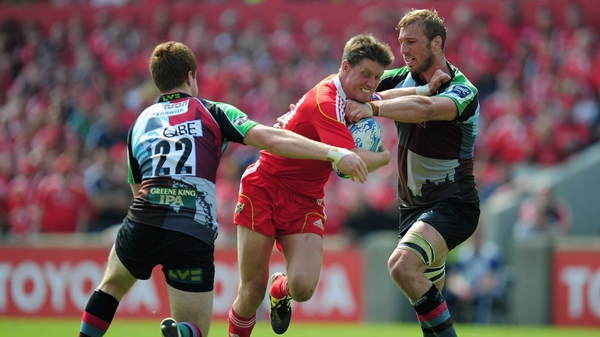 Munster will face Harlequins in the Heineken Cup quarter-finals, a rematch of their 2011 Amlin Challenge Cup semi-final clash, which Quins won 20-12 at Thomond Park