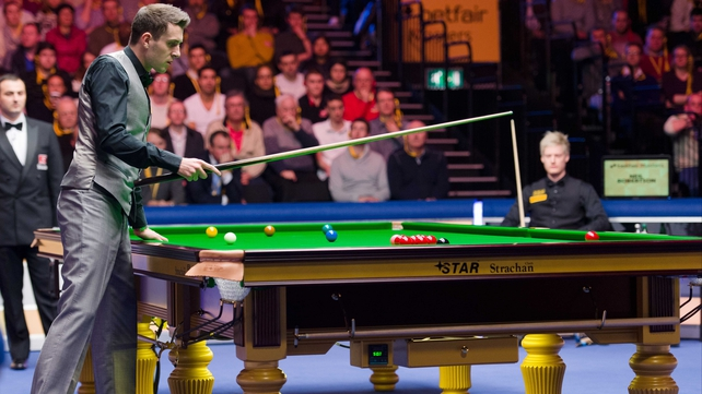 Mark Selby peruses his options during his final against Neil Robertson