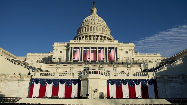 The US Capitol is the scene of today's ceremony
