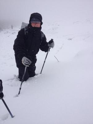 Noel Kerrigan braves the Dublin Mountains over the weekend (Picture: Lindsey Kerrigan)