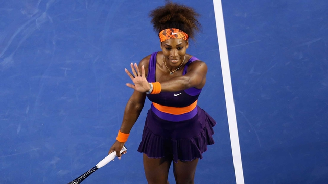Serena Williams beat Maria Kirilenko 6-2 6-0
