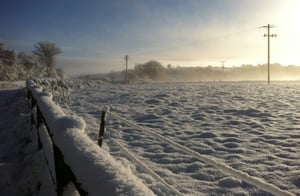 A snow-covered field in Lismire, Co Cork (Picture: Jonathan McCarthy)