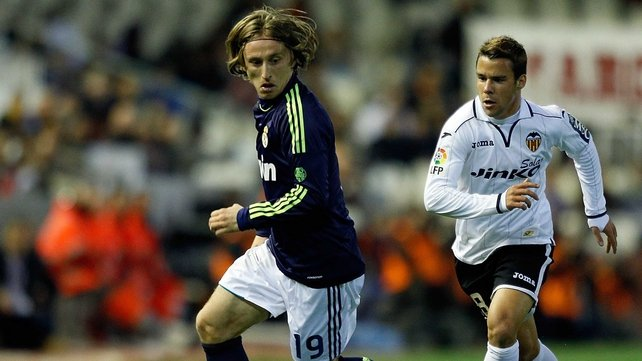 Former Tottenham midfielder Luka Modric came on as a second-half substitute for Real Madrid