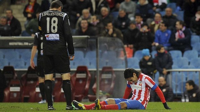Radamel Falcao may be out for three weeks with a thigh injury