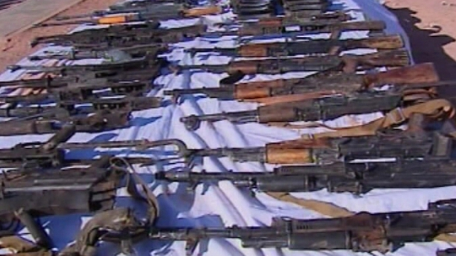 Weapons recovered in the aftermath of siege in Algeria