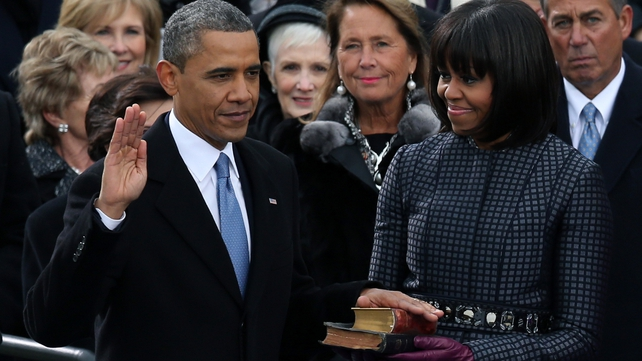 Barack Obama has been publicly sworn in for a second term