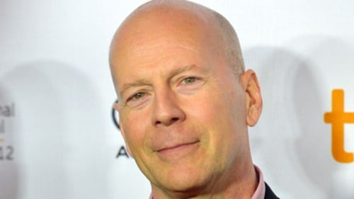 Bruce Willis phones stars as a fan