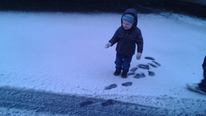 'Seeing snow for the first time!' - Nicola Hale