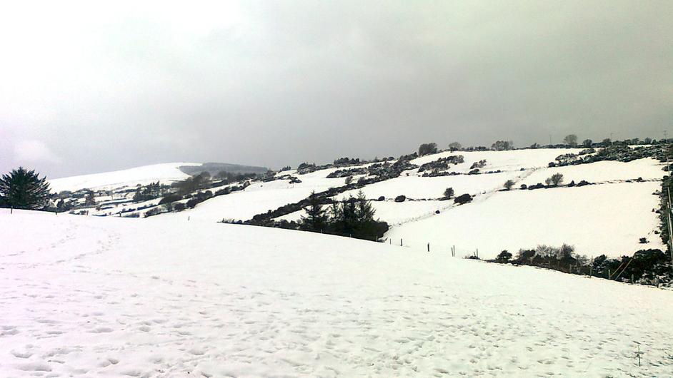 Snowy Glencullen in Co Dublin (Genevieve Plant)