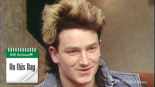 Bono - A Late Late guest on January 22 1983