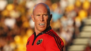 Peter Stringer in the red of Munster