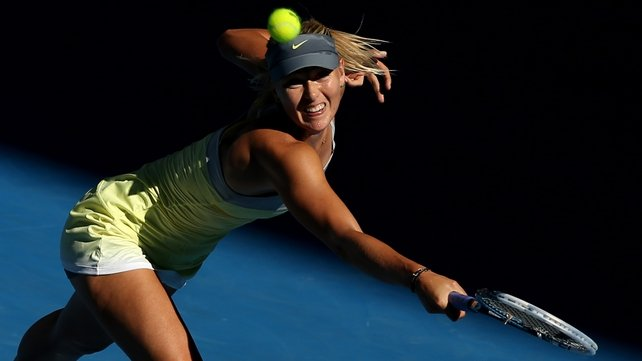 Maria Sharapova has dropped just nine games in total