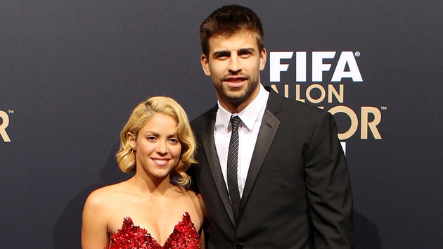 Shakira with boyfriend, FC Barcelona defender, Gerard Piqué