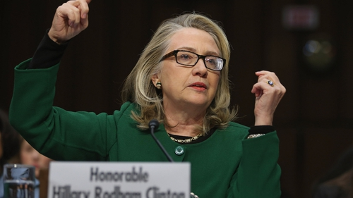 Hillary Clinton testifies before the Senate Foreign Relations Committee on Capitol Hill