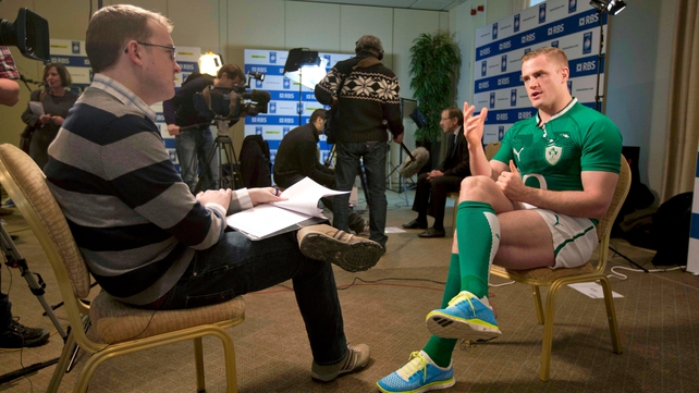 Heaslip pictured with Damien O'Meara at the tournament launch in London
