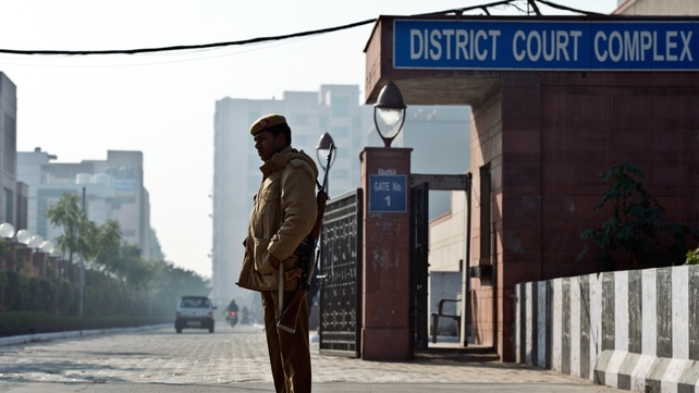 The five suspects arrived at a special fast-track New Delhi court