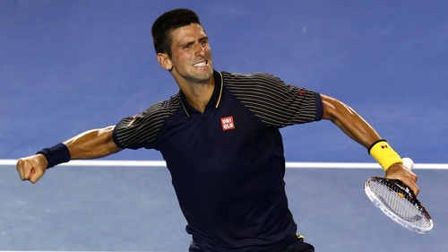 Novak Djokovic celebrates as he reaches yet another Grand Slam final in Melbourne