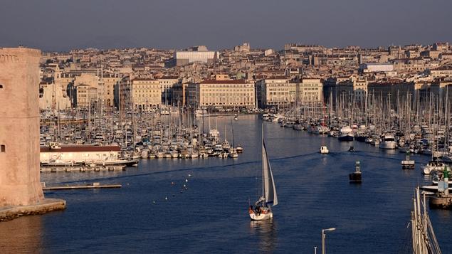 A vibrant Mediterranean city