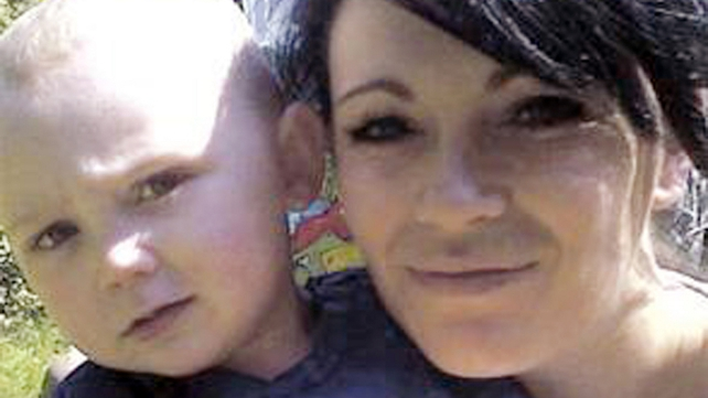 Stacey Ellard pictured with her son Cian, who died in the blaze