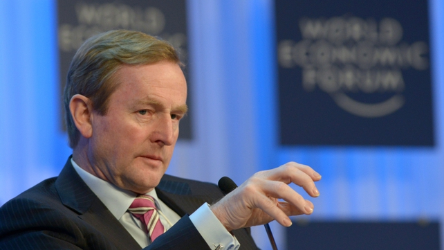 Enda Kenny is attending the World Economic Forum in Davos, Switzerland