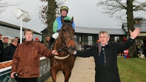 Trainer Paul Gilligan was confident that his charge Jadanli would land the Thyestes Chase.