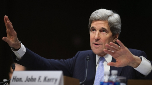 Senator Kerry said it was important for Republicans and Democrats to come together in order to deal with the Syria crisis