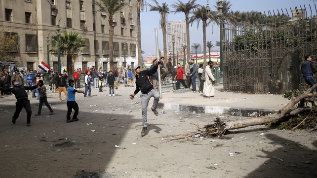 Clashes were expected as part of the anniversary of Hosni Mubarak's ousting from power