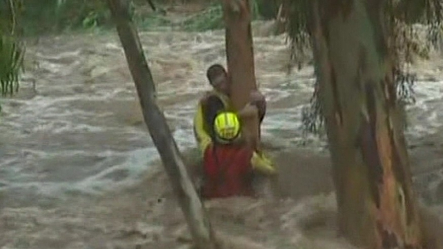Around 20 water rescues were carried out in central Queensland on Thursday night and into Friday morning