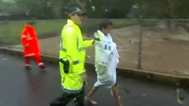 The boy walked away from the scene after reaching land and was taken to hospital as a precaution
