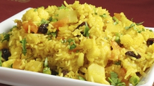 Cauliflower and Green Bean Biryani