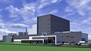 An artist's impression of Glanbia's new €150m dairy processing facility on the Kilkenny/Waterford border