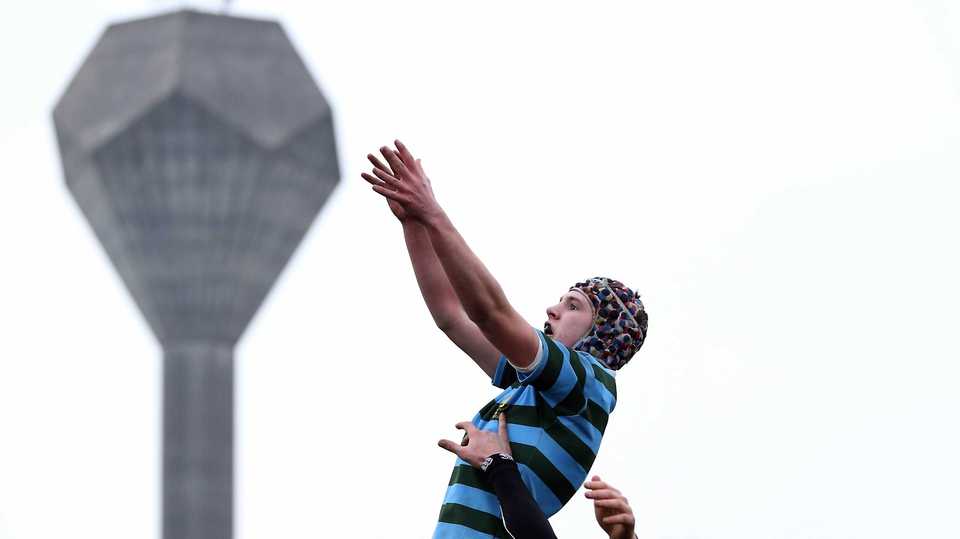 Alan Symes has time to indulge in a bit of camera trickery during St Gerard's Vinnie Murphy Cup clash with Mount Temple