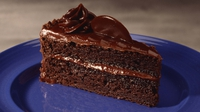 French Chocolate Cake - A delicious French chocolate cake with chocolate butter icing.