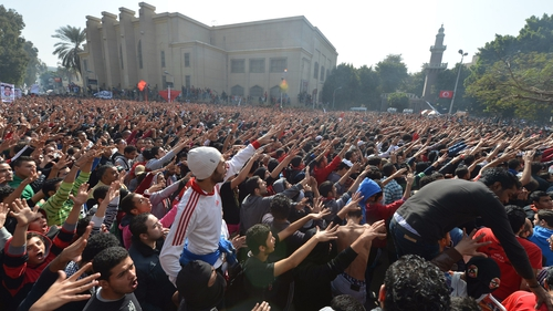Violence broke out in Port Said following a trial over last year's soccer stadium deaths