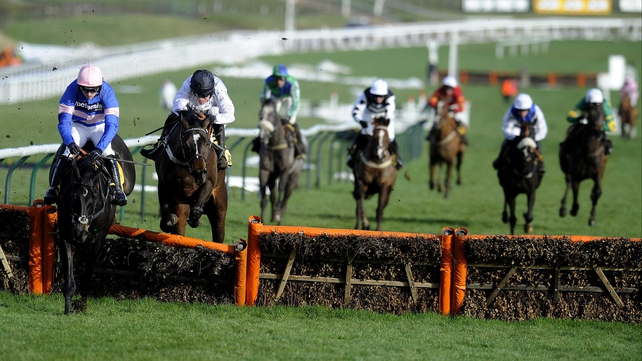 Rolling Star and Irish Saint could lock horns at Cheltenham for a second time after fighting out an exciting finish at Prestbury Park on Festival Trials Day