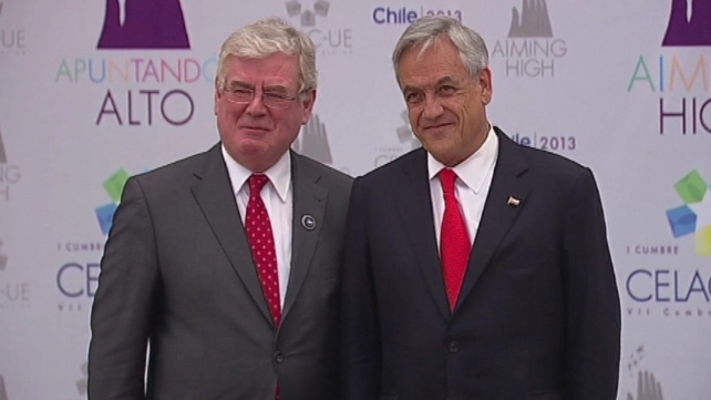 Eamon Gilmore commented on Ireland's bank debt at an EU-Latin American summit
