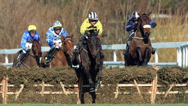 Glens Melody and Paul Townend take over in front at the last hurdle