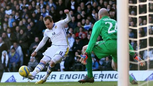 Luke Varney fires Leeds in front