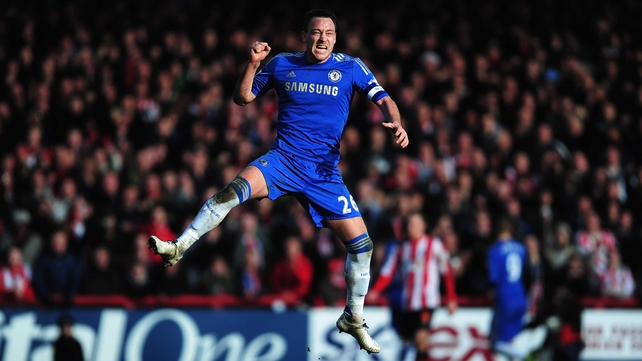 The fit again John Terry celebrates Torres' equaliser