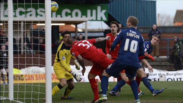 Matt Smith put Oldham ahead early on at Boundary Park
