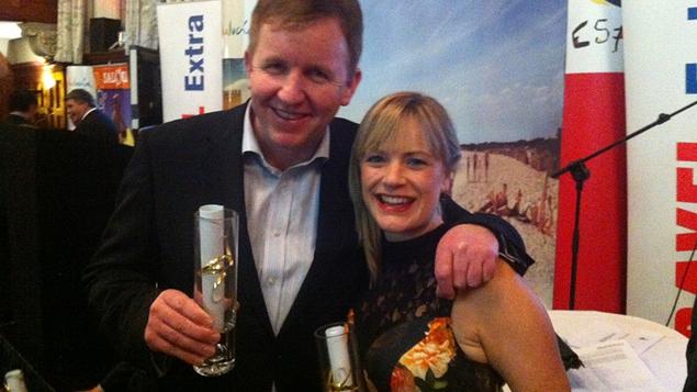 Ed and Deirdre with their awards