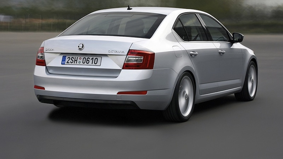 Škoda Octavia's exterior is simple and unfussy