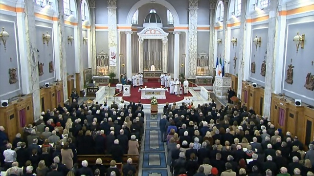 Huge crowds attended the funeral mass of the 83-year-old in Dublin