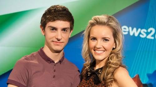 Conor with News2Day co-presenter Carla O'Brien