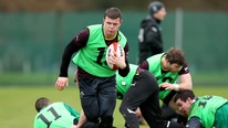 Shane Byrne and Alan Quinlan on the team chosen to face Wales.